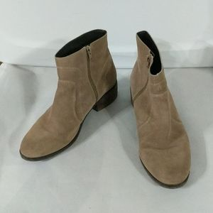 Gibson Latimer Tan Leather Zipper Ankle Booties - size 9